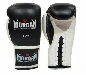 MORGAN LACE UP LEATHER  FIGHT NIGHT BOXING GLOVES