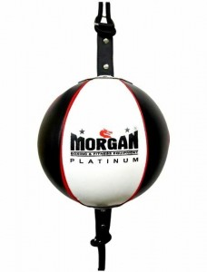 MORGAN 8inch PLATINUM LEATHER FLOOR TO CEILING BALL + Adjustable Straps