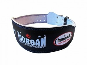 MORGAN PROFESSIONAL 10cm WIDE LEATHER WEIGHT LIFTING BELT