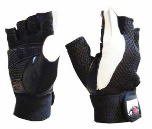 MORGAN LEATHER & MESH WEIGHT GLOVES