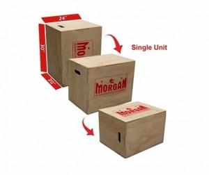 MORGAN 3 IN 1 CROSS FUNCTIONAL FITNESS WOODEN BOX