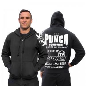 Punch Sponsorship Black Zip Hoodie