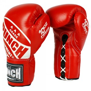 Trophy Getters Lace Up Boxing Fight Gloves