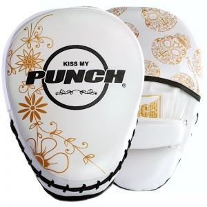 Womens Boxing Focus Pads - Skull Art